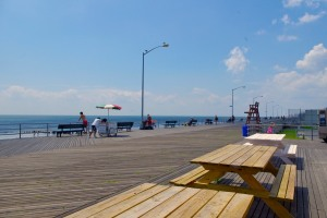the rockaway beach boardwalk at 96th street